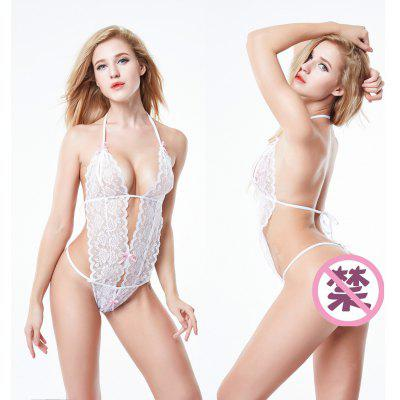 Erotic Lingerie Sexy Costumes Lace Siamese Perspective Underwear G-string Sexy Lingerie Adult Sex