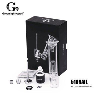 GearBest coupon: G9 510 Nail Wax Oil Atomizer Enail Concentare Dabber Vaporizer Glass Filter Dab Rig Kit for 510 Thread Box Mod
