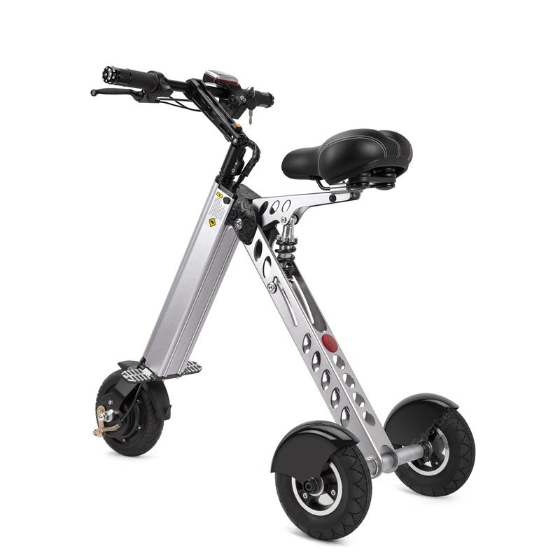 E30 Electric Aluminum Alloy Folding Tricycle Three Speed Regulation Load 100kg Electric Scooters