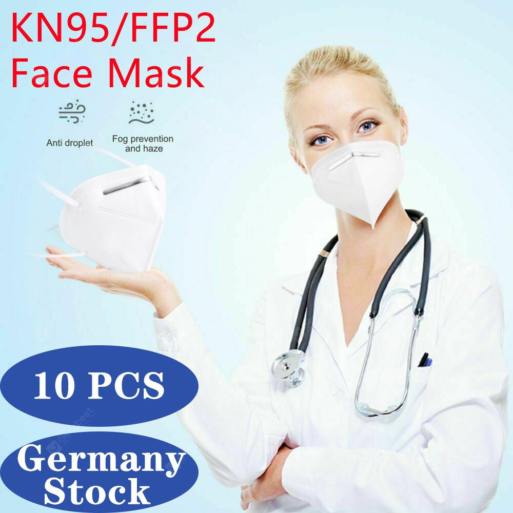 10 PCS N95 FFP2 Face Mask 5-Layer Respir