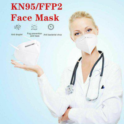 N95 FFP2 5-Layer Mask Respirator for Dust Pollution Protection Disposal Ordinary Non-medical Masks