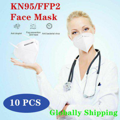 N95 FFP2 Face Mask 5-Layer Nonwoven Disposable Mouth Breathable Flu Dust-Proof  10 PCS