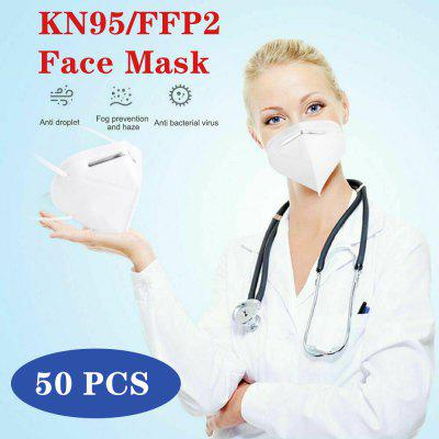 N95 FFP2 5-Layer Mask Respirator for Dust Pollution Protection Disposal Hygiene Mask