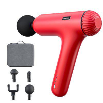 Upgraded Professional Handheld Electric Body Percussion Massager Sports Drill with 4 Heads Helps Relieve Muscle Soreness and Stiffness