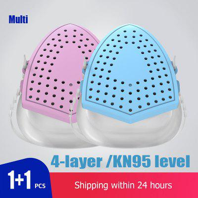 Silicone Mask KN95 Protection 4-layer Filtration Multiple With Replacement Filter Non medical