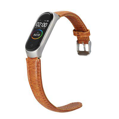 Leather Strap For Xiaomi Smartwatch 4 Mi 3 Unisex Leather Replacement Watch Strap First Layer Cow Leather Wristwatch Band