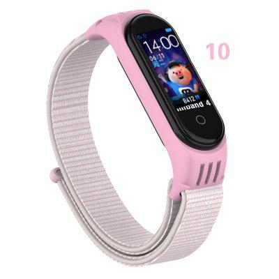 Nylon Replaceable Bracelet For M Band 5 Strap Nylon silicone Sport Wristband For M band 4 MBand 3 Smart Watch Strap
