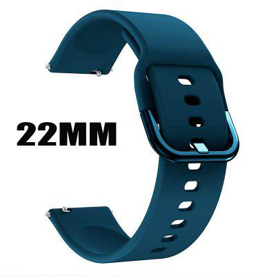 20MM/22MM Silicone Original sport watch band For Galaxy watch active smart watch strap Huawei GT2 Replacement strap