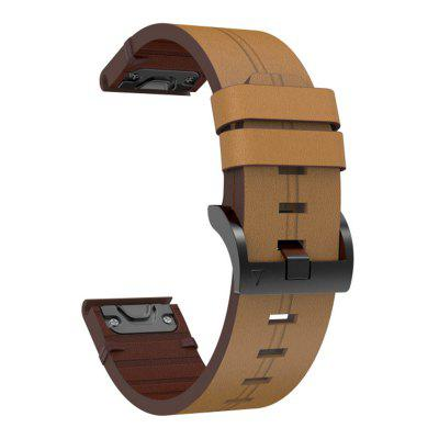 Fenix 6 6X 6S Wristband 22mm 26mm 20mm Quick Fit Genuine Leather Watch Band Strap for Garmin Fenix 5/5X/5S/Forerunner 945