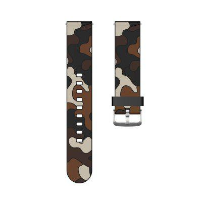 20mm 22mm Camouflage silicone strap For Huawei GT2 Smartwatch Samsung Galaxy Watch