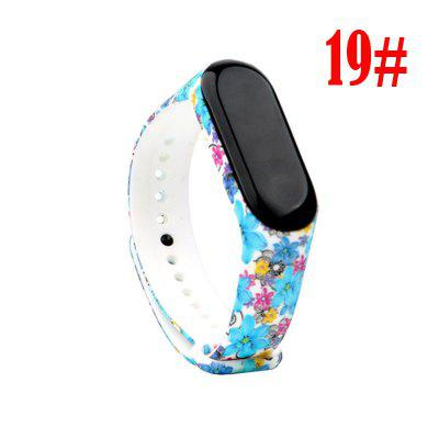 For Mi Band 4 Strap Replacement Bracelet for Xiaomi miband 3/4 Universal silicone Colorful flowers wrist strap for mi3 belt