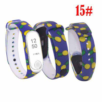 For M Band 4 Strap Replacement Bracelet for mband 4/3 Universal silicone Colorful flowers wrist strap for m3 belt