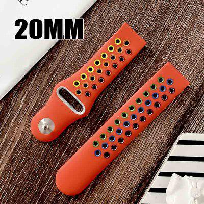 22mm Silicone Rainbow sport watch band For Galaxy watch active smart watch strap For Samsung Galaxy watch Replacement New strap 20MM