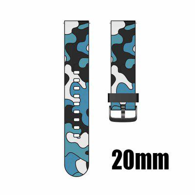 20mm 22mm Camouflage silicone strap For Huawei GT2 Smartwatch Xiaomi Color Watch Samsung Galaxy Watch Black Button