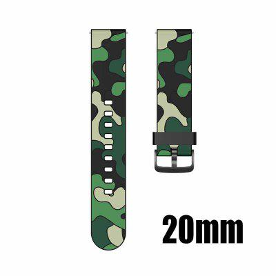 20mm 22mm Camouflage silicone strap For Huawei GT2 Smartwatch Color Watch Samsung Galaxy Watch Black Button