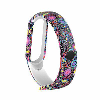 For M5 Strap Replacement Bracelet for miband 5 nfc Universal silicone Colorful flowers wrist strap for m5 belt