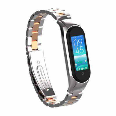 Metal Stainless Steel Strap For M Band 5 Bracelet Straps MBand 5 Metals Protector M5 Wrist Strap M5