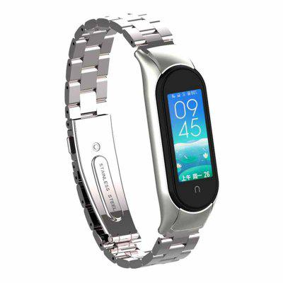 Colourful Smart Watch Strap For M Band 5 Bracelet 304 Stainless Steel Buckle Waterproof Sport Wrist Strap Adjustable For MBand 5