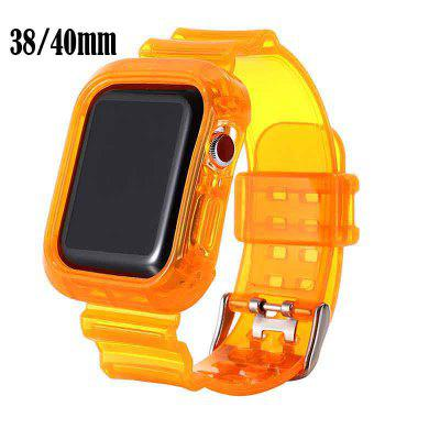 2020 New Transparent iWatch Band Strap with Rugged Bumper Case Compatible with Apple Watch 44mm iWatch Series 5 4