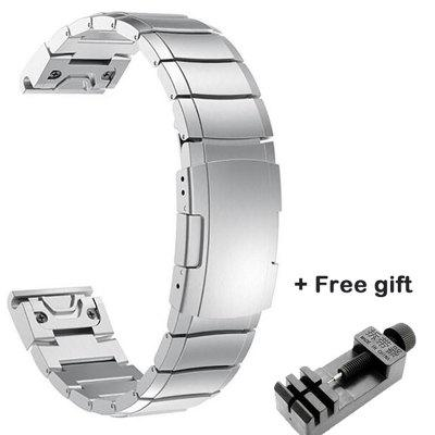 20mm 22mm 26mm Stainless Steel Strap for Garmin Fenix 6 6X 5 5X 5S Classic Quick install Metal Watch Bands Fashion Watch Straps