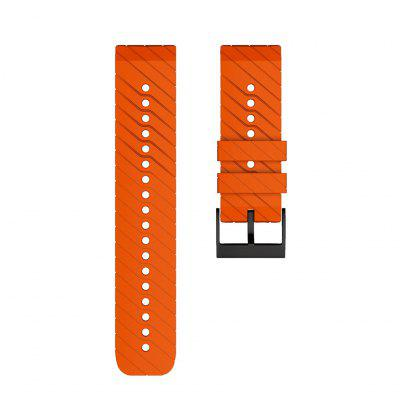 24mm Sports Soft Silicone Replacement Band Strap for Suunto 9/9 Baro Copper Watch Bracelet Watch Wrist Belt for SUUNTO 7 D5i spartan sport