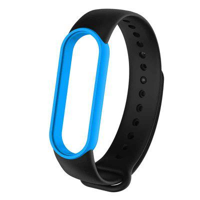 M5 Double Color Replacement Silicone Wrist Strap Watch Band for Xiaomi Mi Band 5 Strap Smart Sports Watch Bracelet