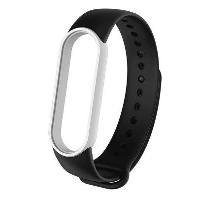 M5 Double Color Replacement Silicone Wrist Strap Watch Band for Mi Band 5 Strap Smart Sports Watch Bracelet