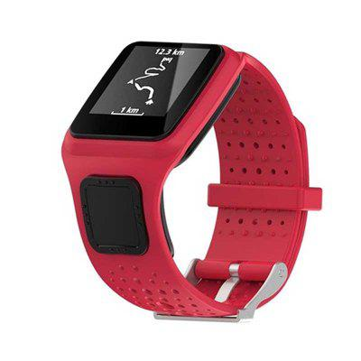 Soft Silicone Watchband for TomTom 1 Series Smart Watch Sport Band Accessories for TomTom Multi-sport Runner GPS Watch Strap