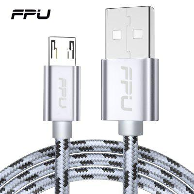 FPU Micro USB Cable 2.4A Nylon Braided Fast Charger Data Cable for Samsung Xiaomi USB Charging Cord