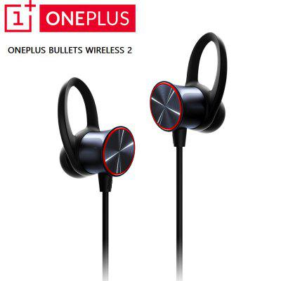 OnePlus Bullets Wireless 2 Earphones AptX Hybrid Magnetic Control Google Assistant Fast Charge
