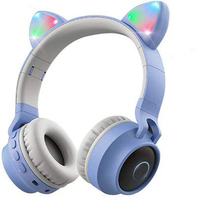 Wireless Bluetooth Kids Headphones Cat Ear Bluetooth LED Light Up Kids Headphones Over Ear