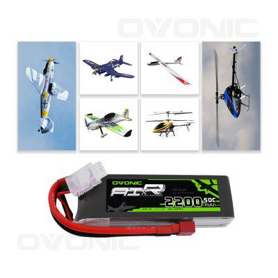 Ovonic 2 Packs 2200mAh 2S 7.4V 50C LiPo Battery Pack with T Plug for RC Evader BX Car RC Truck