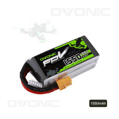 Ovonic 14.8V 1550mAh 100C 4S LiPo Battery Pack with XT60 Plug for FPV Racing RC Quadcopter Airplane