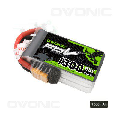 Ovonic 14.8V 1300mAh 4S 80C LiPo Battery Pack with XT60 Plug for RC Boat Heli Airplane UAV Drone FPV