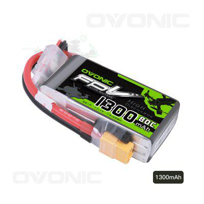 Ovonic 11.1V 80C 3S 1300mAh LiPo Battery Pack with XT60 Plug for RC Boat Heli Airplane UAV Drone