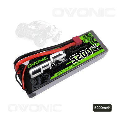 Ovonic 50C 2S 5200mAh 7.4V Lipo Battery with Deans Connector for RC Short Course Monster Truck