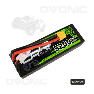 Ovonic 7.4V 5200mAh 50C 2S LiPo Battery Pack HardCase with XT60 Plug for RC Car Traxxas Slash Buggy