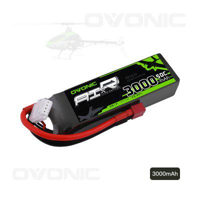 OVONIC 3S 11.1V 3000mAh 50C LiPo RC Battery Pack with T Plug for Evader BX Car Truck Truggy