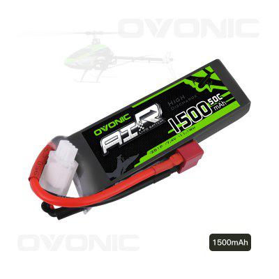 Ovonic 7.4V 1500mAh 50C 2S LiPo Battery Pack with Deans Plug for FPV Racing RC Quadcopter Helicopter