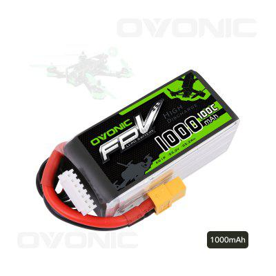 Ovonic 1000mAh 6S 100C LiPo Battery with XT60 Plug for FPV Racing RC Quadcopter Helicopter Airplane