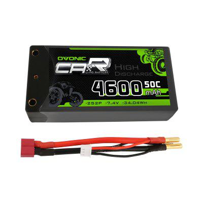 Ovonic 2S Shorty Lipo 7.4V 50C 4600mAh Hardcase Lipo Battery with 4mm Bullet Deans Ultra Plug