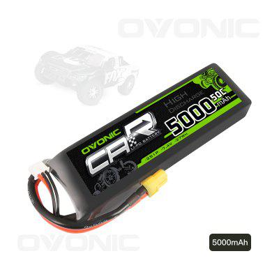 Ovonic 7.4V 5000mAh 50C 2S LiPo Battery Pack with XT60 Plug for RC Car Traxxas Slash Buggy Team