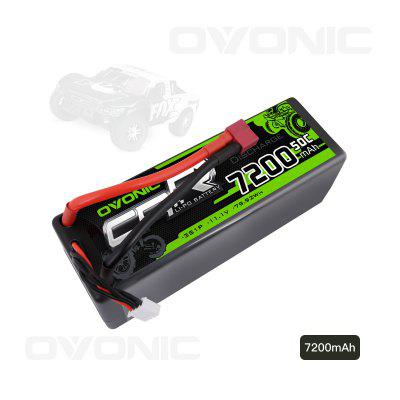 OVONIC RC Car Lipo Battery 11.1V 7200 50C 3S mAh HardCase Deans T Plug RC Car Boat Truck Roar