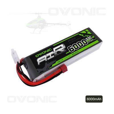 Ovonic 6000mAh 3S 11.1V 50C LiPo Battery Pack with T Plug for RC Car Boat Truck Heli Airplane