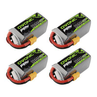 OVONIC 22.2V 100C 6S 1300mAh LiPo Battery Pack With XT60 Plug For Freestyle