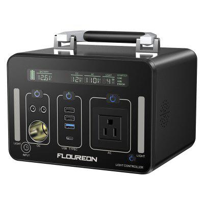 Floureon 500Wh Power Generator Portable Li On Charger with AC DC USB Input PD Quick Charge for Home