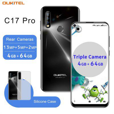 Unlock OUKITEL C17 Pro 6.35 inch Android 9.0 MT6763 Octa Core 4GB 64GB Mobile Smartphone Face ID Fingerprint Image
