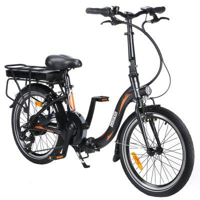 Dohiker 20F054 250W Electric Bike 20 Inch Folding Frame E-bike 7-Speed Gears With Removable 10AH Lithium-Ion Battery For Commuter Image