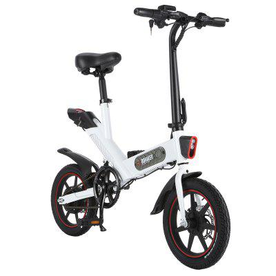 DOHIKER Y1 Folding Electric Bicycle 350W 36V Waterproof Electric Bike with 14inch Wheels 10Ah Rechargeable Battery Image