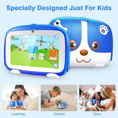 Excelvan Q738 7 Inch A50 Android 9.0 with 1GB RAM 16GB ROM Dual Camera WiFi USB Kids Software Edition Kids Tablet PC GMS EU Image